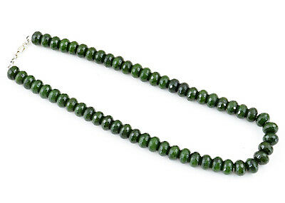 Striking Top Demanded 765.15 Cts Natural Green Garnet Faceted Beads Necklace