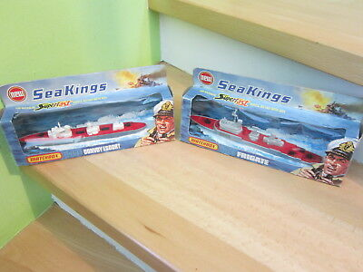 2 x Matchbox Sea Kings K-301 Frigate K-306 Convoy Escort,OVP (c) 1975