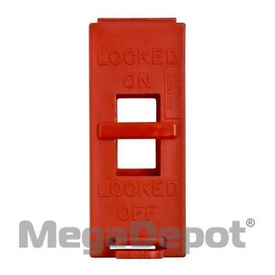 "Brady 65392, 3.56"" x 1.42"" Red Polypropylene Wall Switch Lockout"