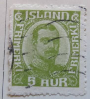 A8P15 Iceland 1921-22 5a used # 27