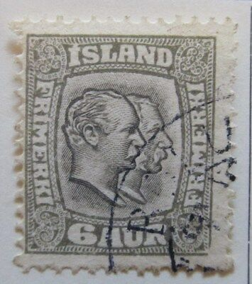 A8P14 Iceland 1907-08 6a Perf 13 used # 17