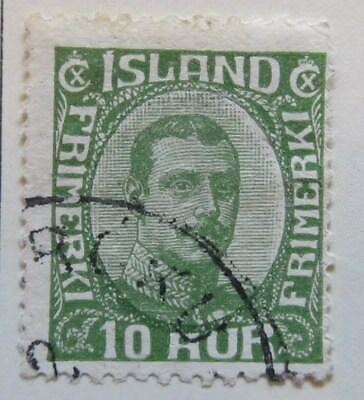 A8P15 Iceland 1921-22 10a used # 28