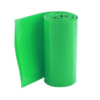 2M 70mm green PVC heat shrink tubing Protective tube for 4 x 18650 battery S3G1