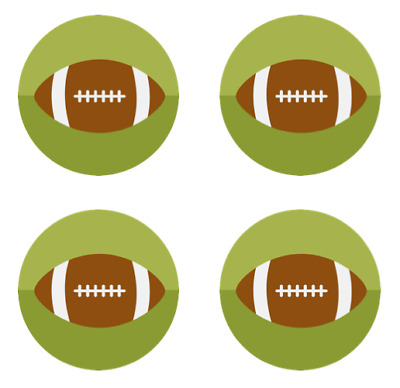 All Star Sports Edible Cupcake Toppers Decoration (Baseball, Football, Soccer)