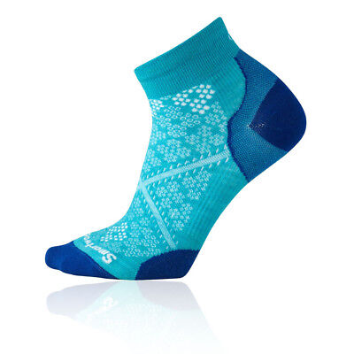 SmartWool Womens Smartwool PhD Run Ultra Light Low Cut Socks Blue Sports Running