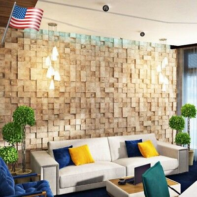 *SQUARE* 3D Decorative Wall Panels 1 pcs ABS Plastic mold for Plaster