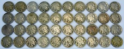 ( 40 ) Buffalo Nickels - All From 1920's - Lot# 9