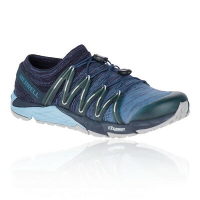 Merrell Womens Bare Access Flex Knit Trail Running Shoes Trainers Blue