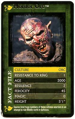 Mordor Orc - The Lord Of The Rings F.O.T.R. Top Trumps Specials Card (C1123)