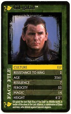 Gil-galad - The Lord Of The Rings F.O.T.R. Top Trumps Specials Card (C1123)