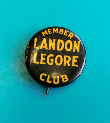 "Old Vtg Collectible Alfred ""Alf"" Landon Legore Member Club Political Pin Badge"