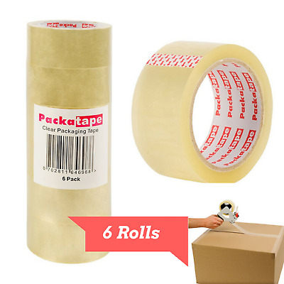 Scotch Heavy Duty Shipping Packing Tape Clear 6 Rolls Shipping Packaging Tape