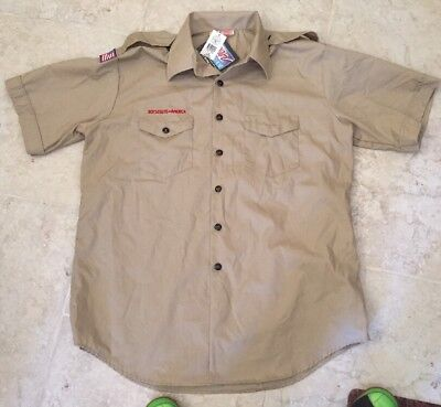 NWT Official Uniform Boy Scout Shirt Adult mens Short Sleeve  Uniform X-Large