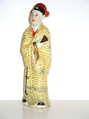 Antique 19th c. Qing Chinese Porcelain Lovely Wealthy Noble Woman Statue