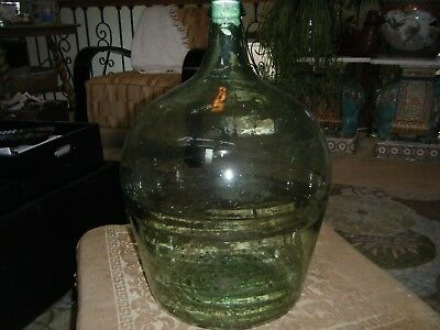 demijohn large and heavy glass