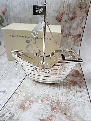 Silver plated pirate money box
