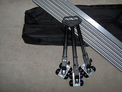 Portable Camera Dolly with 12ft of Straight Track    crane