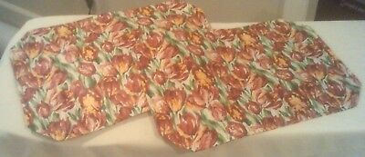 Longaberger Set of 2 Placemats in the Tulip Pattern