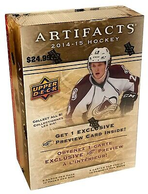 2014-15 Upper Deck Artifacts NHL hockey cards 10 Pack Box