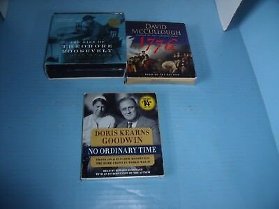 Lot Of 3 Audiobook Cd American Presidents & History*rise Of Theodore Roosevelt