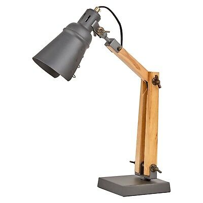 Handmade Table/Desk Lamp with Gappy Metal Shade in 2 colour options