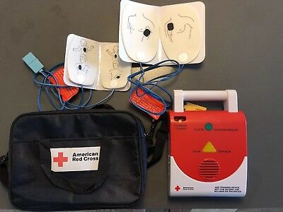 American Red Cross AED Trainer with bag and pads
