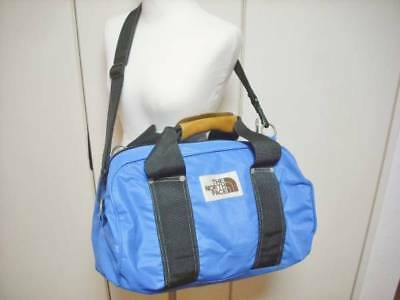 THE NORTH FACE Vintage Boston Bag 1970s Light Blue with Brown Tag