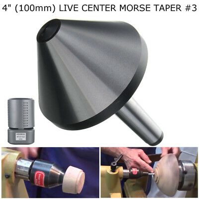 4'' MT3 Bull Nose Lathe Live Center Morse Taper #3 Tool Bit 75 Degree 100mm