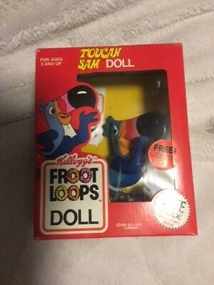 1984 Kellogg's Froot Loops Toucan Sam Doll (With Poseable Arms)