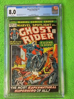 Marvel Spotlight 5 First 1st Ghost Rider 1972 CGC 8.0 Beauty White Pages No Resv