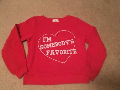 Girls Wildfox Kids Sweatshirt Read I'm Somebody's Favorite Size 7/8