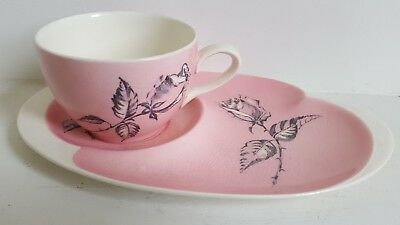 Gorgeous vintage Royal Winton pink & cream Rose cup & side plate