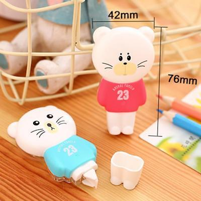 6m Cute Cartoon Animal Correction Tape White Out School Office Study Stat