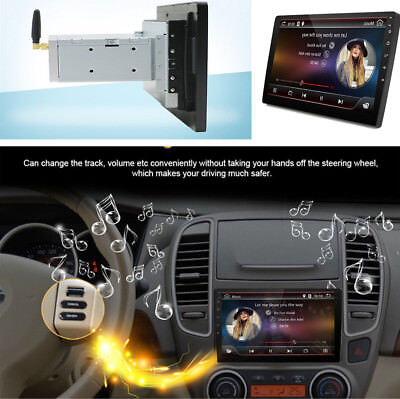 """Android 7.1.1 Double 1 Din 10.1"""" Car Stereo Radio GPS Wifi 3G/4G Mirror Link OBD"""