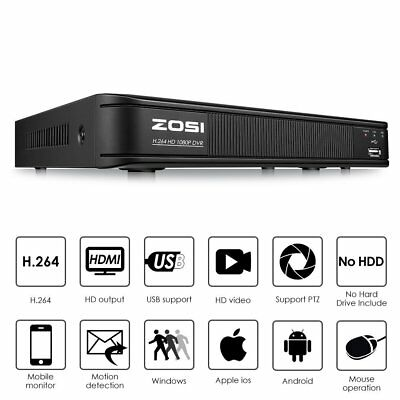 ZOSI HDMI 4In1 8CH 1080p DVR CCTV motion detection Security surveillance System