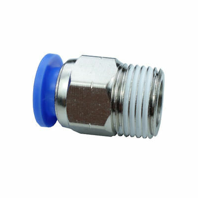 "Pneumatic Push In Air Fitting Straight Male Connector 12 mm OD*1/4""NPT"