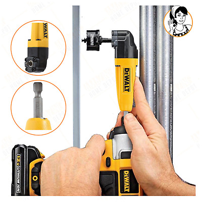 Right Angle Drill Adapter Hex Shank Corded Cordless Drills Driver Bit Attachment