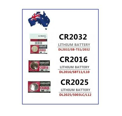 Multiple MaxW Batteries CR2016 CR2025 CR2032 Melb Stock 3V Lithium Battery - FRE