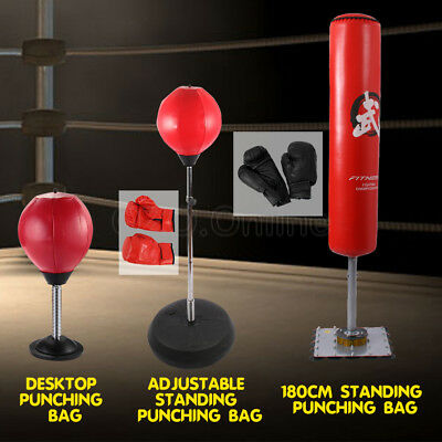 Home Gym Punch Punching Boxing Bag Speed Ball Free Stand Training Kick Martial