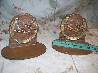 Vintage  Race Horse Wall Shelf/ Book Ends- Used- High Details- Great  Look 1940
