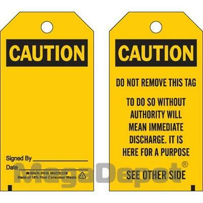 Brady 76193, BLANK ACCIDENT PREVENTION TAG W/OVERLAM