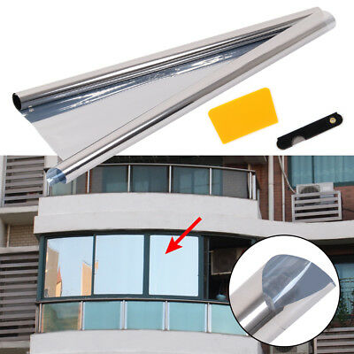 76cm x 1M Silver One Way Mirror Privacy Tinting Reflective 20% Tint Window Film