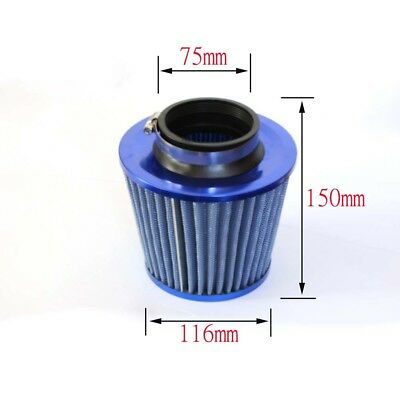 User-friendly Universal Car SUV Flow Cold Blue Air Intake Tapered Cone Filter
