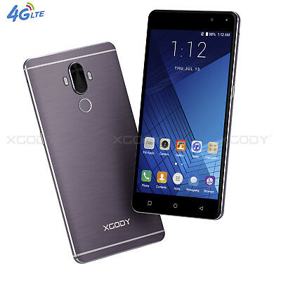"""6"""" 32GB 4G LTE Android 7.0 Smartphone Unlocked Cell Phone Dual SIM 4 Core XGODY"""