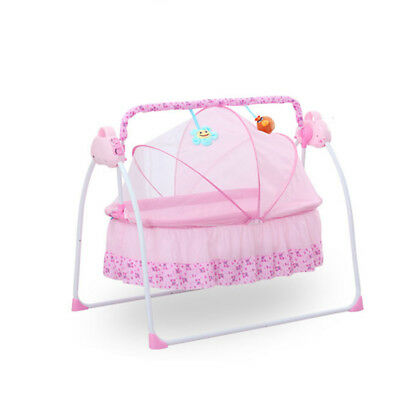 Electric Baby Auto-Swing Bed Big Space Crib Cots Cradle Infant Rocker Cradle