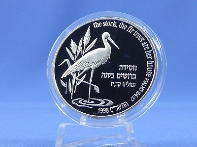 Israel 2 New Sheqalim 1998,Storch ,Silber*PP/Proof* ( 7906)