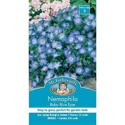 Mr Fothergill's Nemophila Baby Blue Eyes Flower Seeds