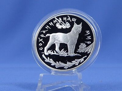Russland 3 Rubel 1995, Luchs , Silber *PP/Proof* (7963 )