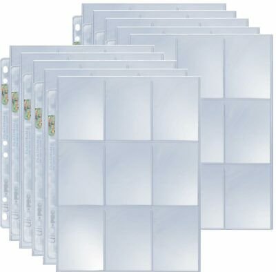 10 Ultra Pro 9-Pocket Silver Series Pages Ordnerseiten für 3-Ring Album - Magic: