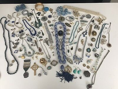 A Fine Antique And Vintage Job Lot Of Costume Jewellery Including Silver